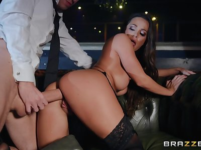 After striptease and amazing blowjob by Abigail Mac everything is better