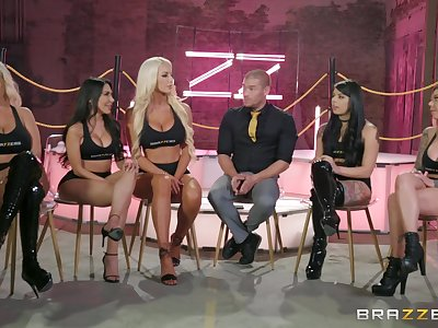 Bridgette B and Gina Valentina enjoy group sex with their friends