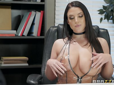 Angela White enjoys sucking stranger's dick like tomorrow never comes