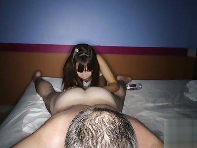 Amateur Creampie For Thai Massage Chick Who Licks Ass