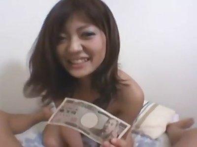 A Cute Asian Model fucks for assets