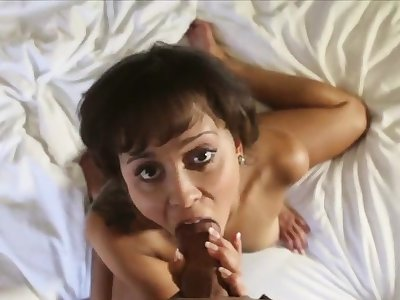 She smiles while milking with the addition of riding a big dick