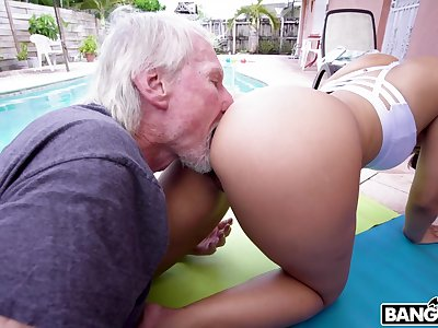 Hypnotizing PAWG Kosame Dash is fucked lasting away from old timer