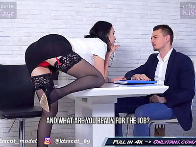 Kisscat Labour Interview skim through DP Hard Ass Bonk with Anal Shinny up